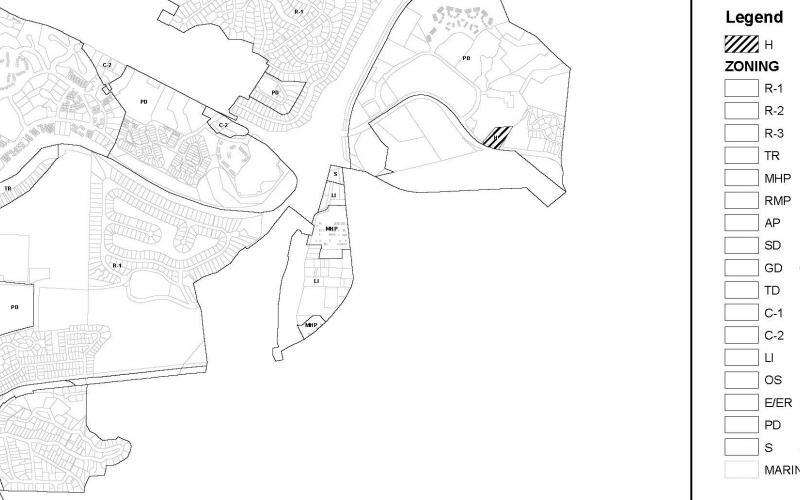 Wagstaff + Rogers Architects Pre-Design Zoning District Map