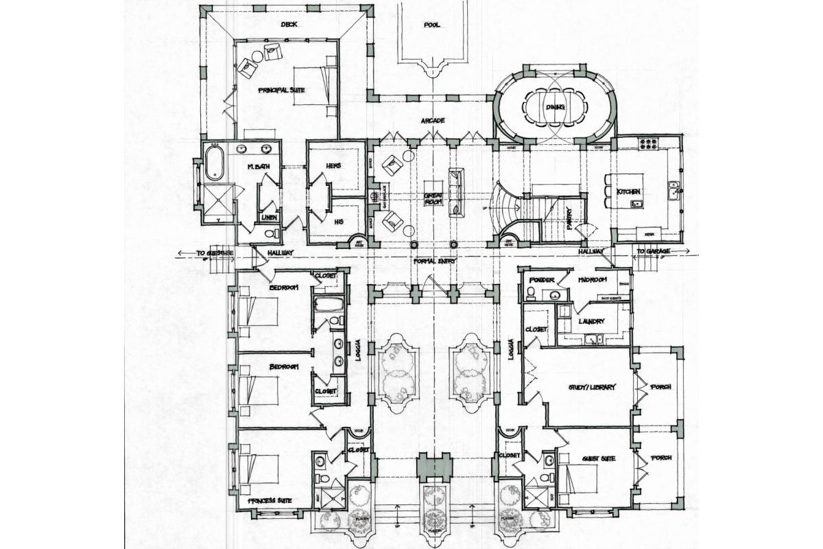 Wagstaff + Rogers Architects Eric Rogers Brock Wagstaff Manor Lane Plan Concept