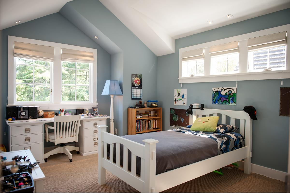 Wagstaff + Rogers Architects Austin San Anselmo Craftsman Style Bungalow Family Oak Kids Room
