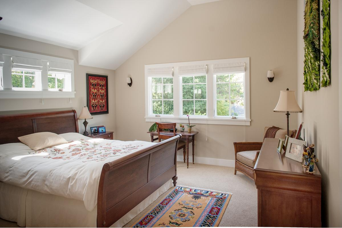 Wagstaff + Rogers Architects Austin San Anselmo Craftsman Style Bungalow Kid's Room Master Principal  Bedroom Suite