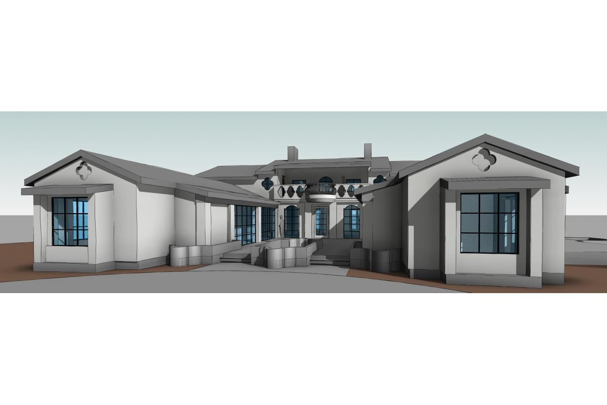 Wagstaff + Rogers Architects Eric Rogers Brock Wagstaff Manor Lane Entry Concept